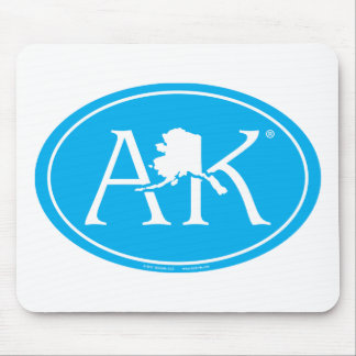 Alfombrilla De Ratón Euro del orgullo del estado: AK Alaska