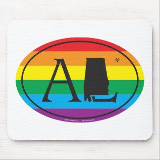 Alfombrilla De Ratón Euro del orgullo del estado de LGBT: AL Alabama