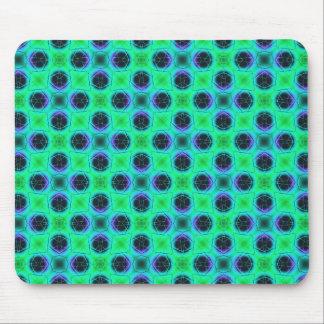 Alfombrilla De Ratón Extracto geométrico azul púrpura verde