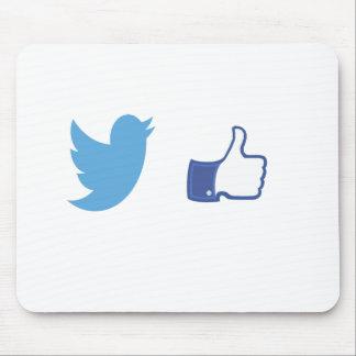 Alfombrilla De Ratón Facebook Twitter