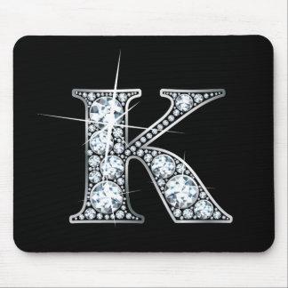 """Alfombrilla De Ratón Falso """"diamante Bling"""" Mousepad de """"K"""""""