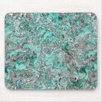Alfombrilla De Ratón Falso modelo verde azulado de plata de la ágata de