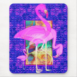 Alfombrilla De Ratón Familia de arte rosado de las cáscaras y del