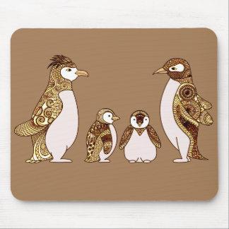 Alfombrilla De Ratón Familia de pingüinos
