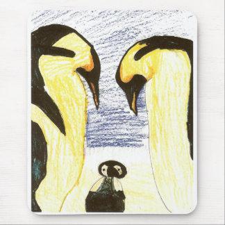 Alfombrilla De Ratón Familia del pingüino que dibuja Mousepad