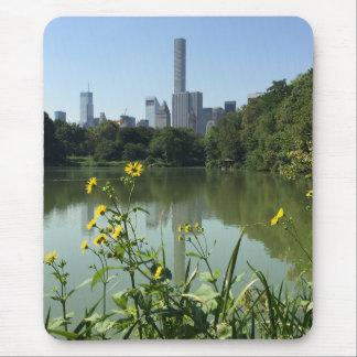 Alfombrilla De Ratón Flor del horizonte de New York City NYC del lago