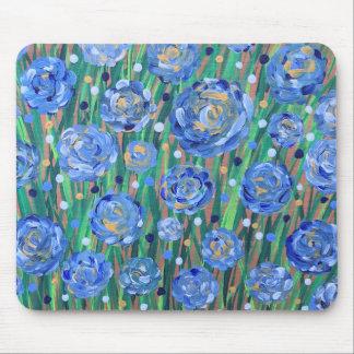 Alfombrilla De Ratón Floraciones azules