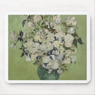 Alfombrilla De Ratón Florero de Vincent van Gogh de rosas que pintan