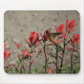 Alfombrilla De Ratón Flores cardinales del colibrí