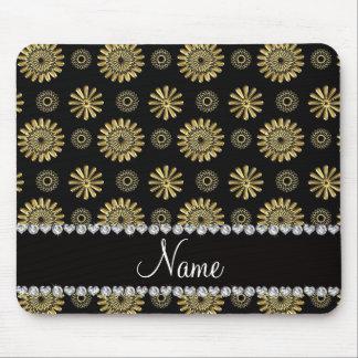 Alfombrilla De Ratón Flores negras retras conocidas personalizadas del