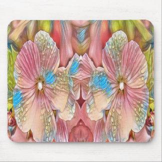 Alfombrilla De Ratón flores rosadas y azules