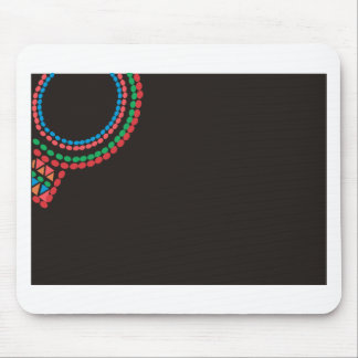 Alfombrilla De Ratón Fondo del negro del collar de Maasai