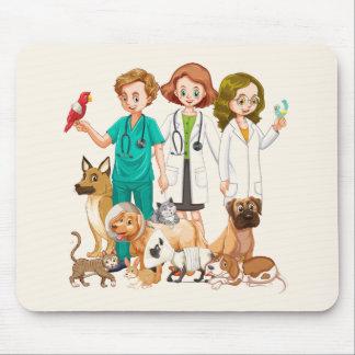 Alfombrilla De Ratón Fondo veterinario de la gente