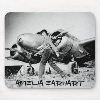 Alfombrilla De Ratón Foto de Amelia Earhart del vintage