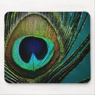 Alfombrilla De Ratón Fotografía colorida Mousepad de la pluma del pavo