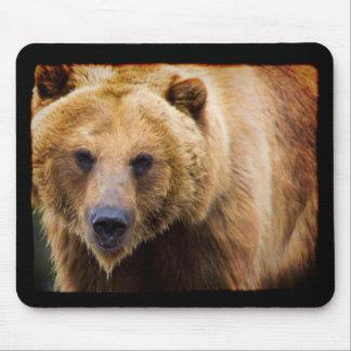 Alfombrilla De Ratón Frontera grande del negro del oso grizzly