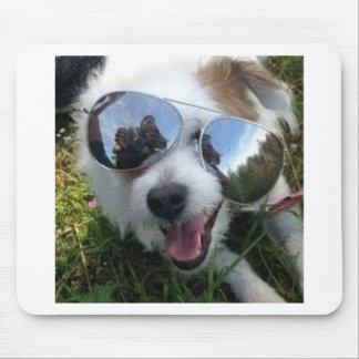 Alfombrilla De Ratón Gafas de sol en el FUTURO BRILLANTE del perro para