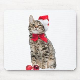 Alfombrilla De Ratón Gato del navidad - gato de Papá Noel - gatito