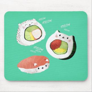 Alfombrilla De Ratón Gato lindo del sushi