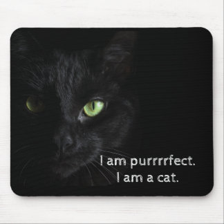 Alfombrilla De Ratón Gato negro de Purrrrfect - cojín de ratón