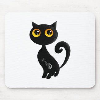 Alfombrilla De Ratón Gato negro lindo