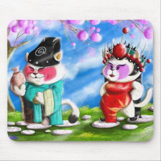 Alfombrilla De Ratón Gatos chinos de la ópera
