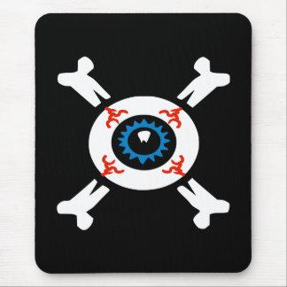 Alfombrilla De Ratón Globo del ojo-y-Bandera pirata