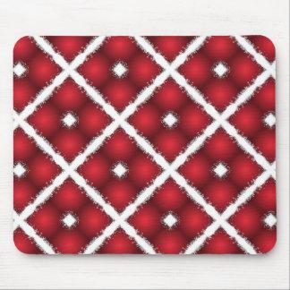 Alfombrilla De Ratón Globos rojos, modelo retro de los Rhombus blancos