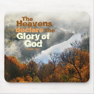 Alfombrilla De Ratón Gloria del verso de la biblia del 19:1 del salmo