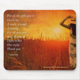 Alfombrilla De Ratón Gracias - para todos los regalos usted me ha dado