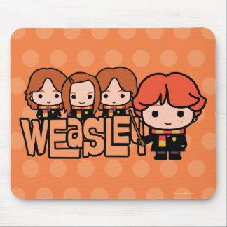 Alfombrilla De Ratón Gráfico de Weasley Siblilings del dibujo animado