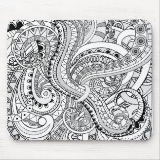 Alfombrilla De Ratón grey  abstract zen pattern