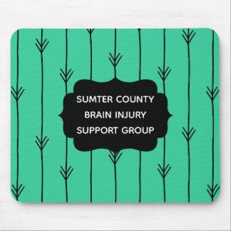 Alfombrilla De Ratón Grupo de ayuda de encargo de la lesión cerebral