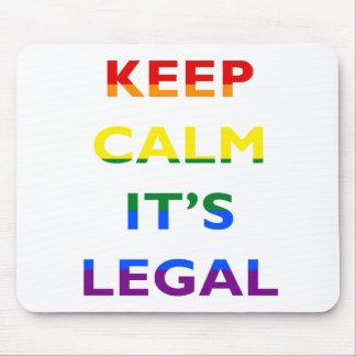 Alfombrilla De Ratón Guarde la calma que es la ayuda legal LGBT