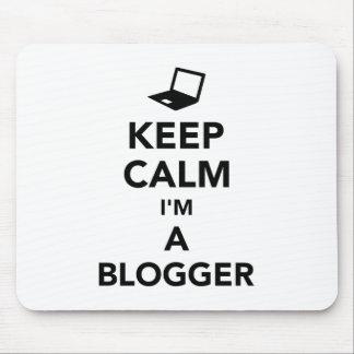 Alfombrilla De Ratón Guarde la calma que soy un blogger