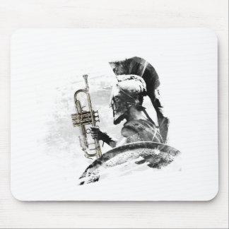 Alfombrilla De Ratón Guerrero de la trompeta