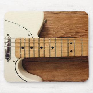 Alfombrilla De Ratón Guitarra blanca