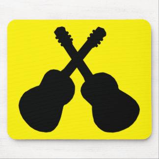 Alfombrilla De Ratón guitarras negras