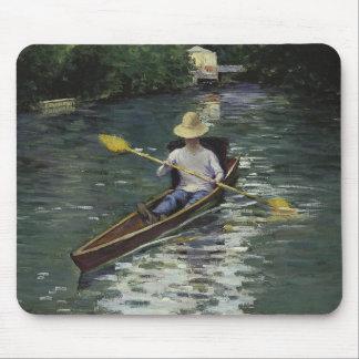 Alfombrilla De Ratón Gustave Caillebotte - canoa en el Yerres