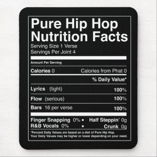 Alfombrilla De Ratón Hechos de la nutrición de Hip Hop