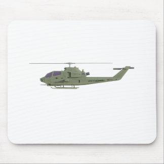 Alfombrilla De Ratón Helicóptero de Apache en perfil de la vista
