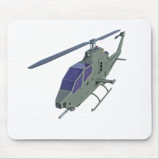 Alfombrilla De Ratón Helicóptero de Apache en vista delantera