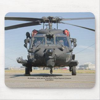 Alfombrilla De Ratón Helicóptero negro de las operaciones especiales
