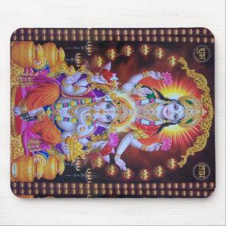 Alfombrilla De Ratón hindus colorido del ganesh del saraswati