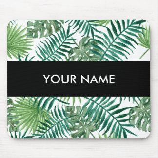 Alfombrilla De Ratón Hoja de palma botánica tropical de la planta