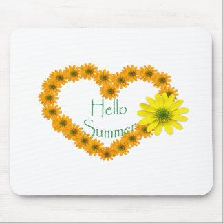 Alfombrilla De Ratón Hola verano, floral, diversión, girasol