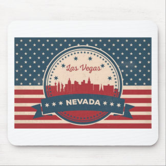 Alfombrilla De Ratón Horizonte retro de Las Vegas