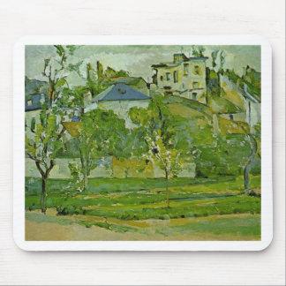 Alfombrilla De Ratón Huerta en Pontoise de Paul Cezanne