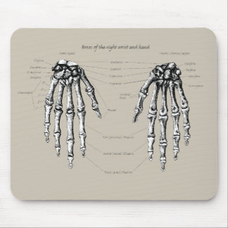 Alfombrilla De Ratón Huesos de la mano humana