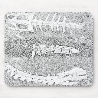 Alfombrilla De Ratón Huesos que colorean el colorante adulto del